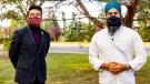 NDP MP-elect Blake Desjarlais with NDP leader Jagmeet Singh. (Source: Twitter/Blake Desjarlais)