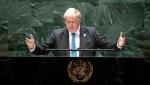 British Prime Minister Boris Johnson addresses the 76th session of the United Nations General Assembly Wednesday, Sept. 22, 2021, at UN headquarters. (Eduardo Munoz/Pool Photo via AP)