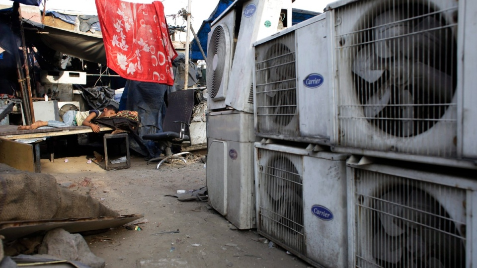 Air conditioner shop in New Delhi, India