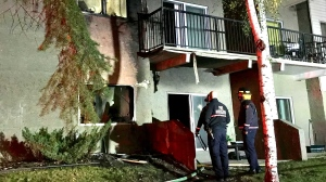 All units in Sandlewood Place, at 65 Street and 129 Avenue, were evacuated after the blaze broke out on a main-floor suite before 6 a.m. on Sept. 23, 2021.