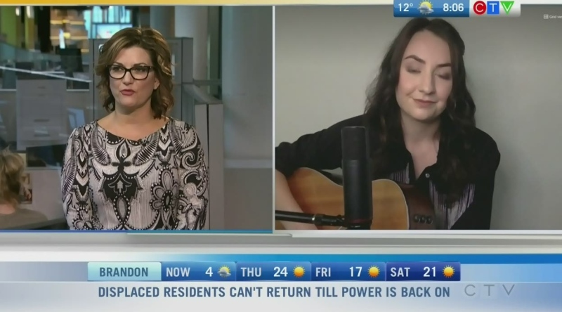 Manitoba musician Emma Peterson is performing live Saturday at Keystone Centre in Brandon. Rachel Lagacé reports.