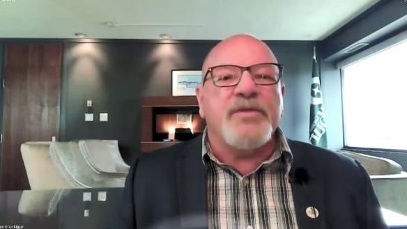 Sudbury Mayor Brian Bigger gives virtual state-of-the-city address. Sept. 22/21 (Ian Campbell/CTV Northern Ontario)