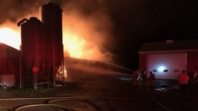 Fire at a barn in South London on Wednesday September 22, 2021 (Source: London Fire Department)