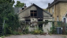 Photos taken after a suspicious fire at 231 Waterloo Street on Wednesday September 22, 2021 (Jim Knight / CTV News)