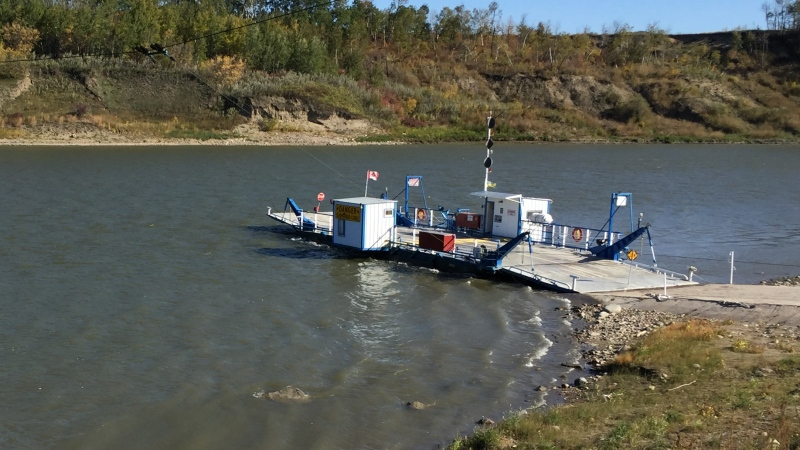 RCMP say officers discovered human remains in the North Saskatchewan River near the Cecil Ferry. (Lisa Risom/CTV Prince Albert)