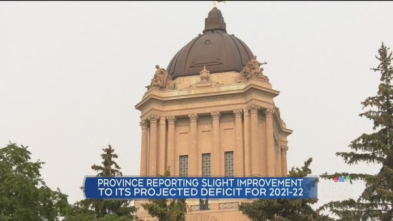 Manitoba's deficit slightly improves
