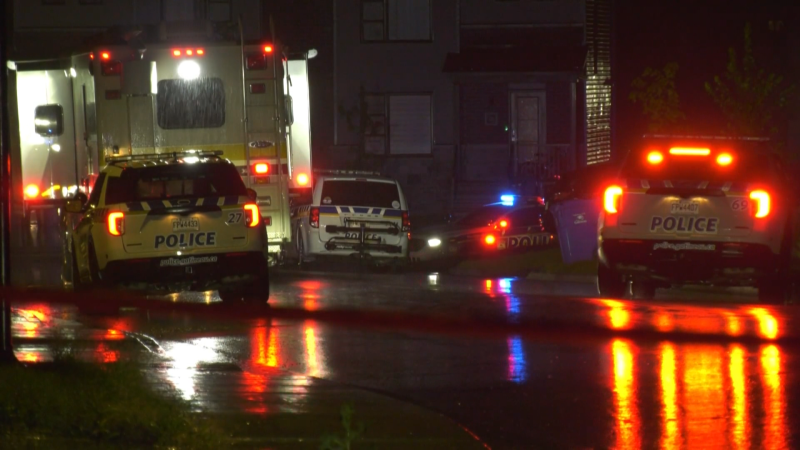 Gatineau police investigate the suspicious deaths of a father and his two children at an Aylmer, Que. home after their bodies were found on Wednesday, Sept. 22, 2021.
