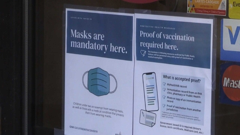 N.B. customers complain about vaccine rule