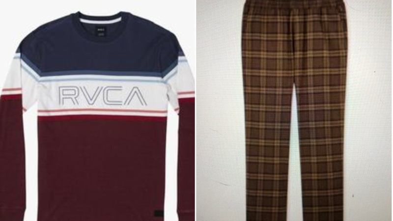 """Stelmack was last seen wearing brown plaid pyjama pants and a red long-sleeve shirt with """"RVCA"""" on the front."""