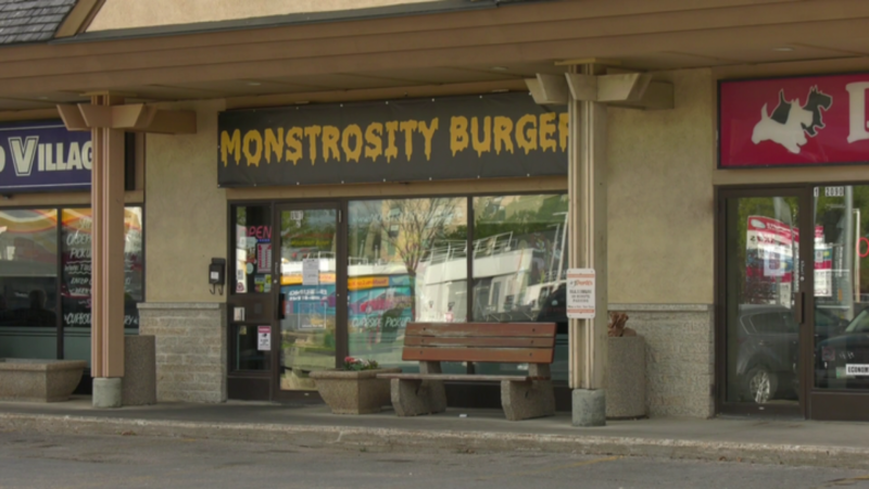 Monstrosity Burger was one of five businesses to receive tickets for not following public health orders in Manitoba between Sept. 13 and 19. The restaurant received six $5,000 tickets. (Source: Glenn Pismenny/CTV News)