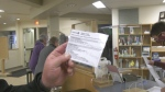 The Arnprior Public Library is offering to laminate proof of vaccination receipts for residents. (Dylan Dyson/CTV News Ottawa)