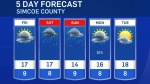Five-day forecast for CTV Barrie: Sept. 23