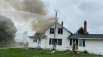 Fire crews responded to a house fire at 29657 Zone Road 4 in Chatham-Kent, Ont. on Thursday, Sept. 23, 2021. (Courtesy Chatham-Kent Fire and Emergency Services)