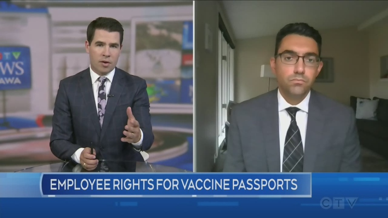 Vaccine passport rights for workers, employers