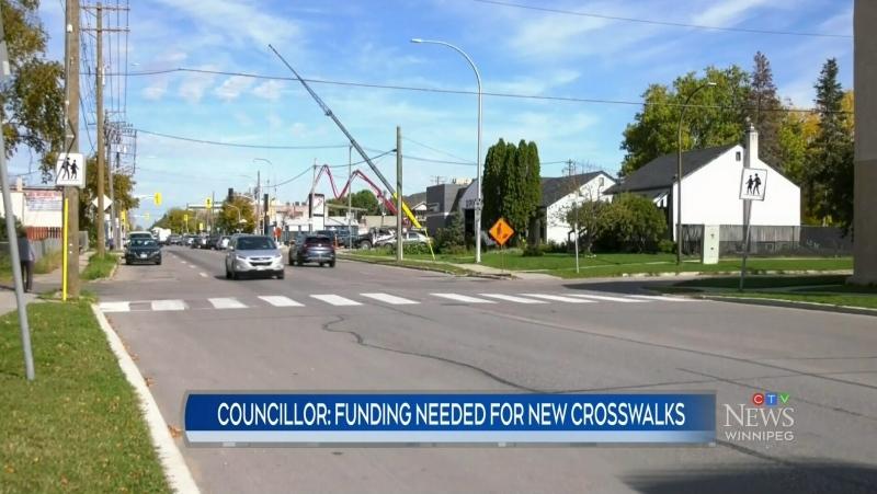 Lack of funding for new crosswalks
