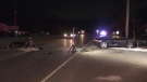Police are investigating after a collision in Springwater on County Road 90 on Thurs. Sept. 23, 2021 (Dave Erskine/CTV News Barrie)