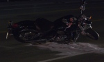 A motorcycle appeared to be involved in a collision in Springwater on Thurs. Sept 23, 2021 (Dave Erskine/CTV News Barrie)