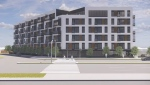Renderings of the proposed development on Pembina Highway at the site of the Cambridge Hotel. (Source: Richard Wintrup)