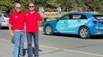 Electric car journey