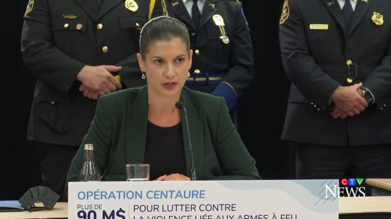 Public Security Minister Genevieve Guilbault