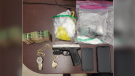 Nottawasaga OPP confiscated drugs and a gun during an investigation on Tuesday, September 21 (OPP/Supplied)