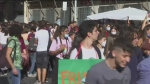 Young people hit streets urging climate change