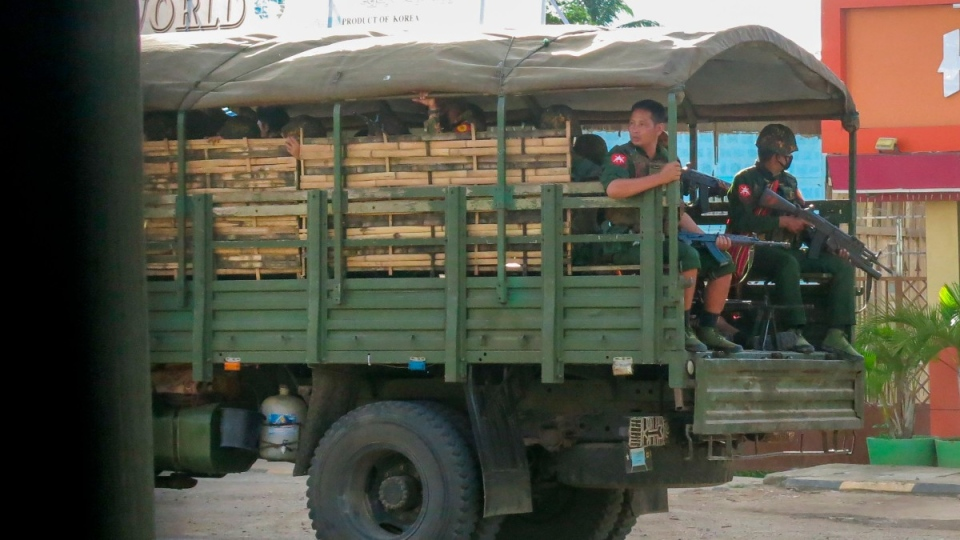 On patrol in Kayah state, Myanmar