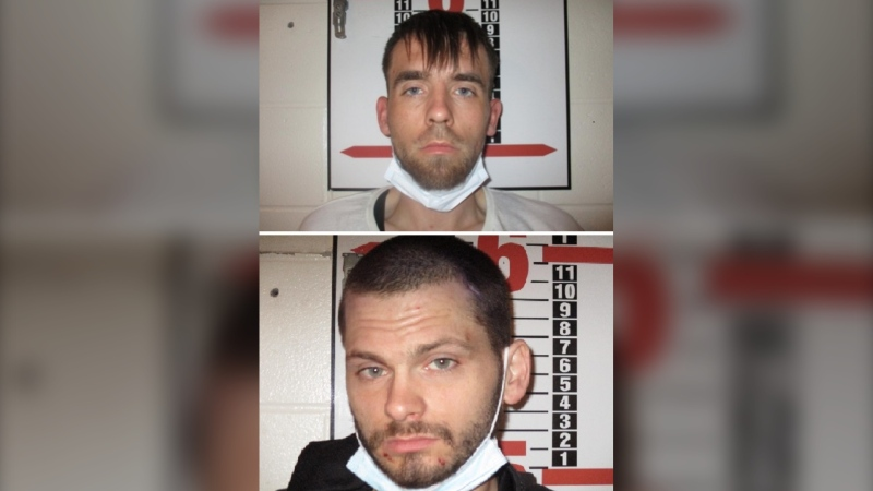 According to the Department of Justice, two inmates escaped from the Central Nova Scotia Correctional Facility in Dartmouth at around 8:51 p.m. on Thursday. (Photos via Nova Scotia Department of Justice)
