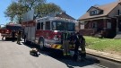 Fire crews responded to a fire in the 1000 block of Dougall Avenue in Windsor, Ont. on Friday, Sept. 24, 2021. (Chris Campbell/CTV Windsor)