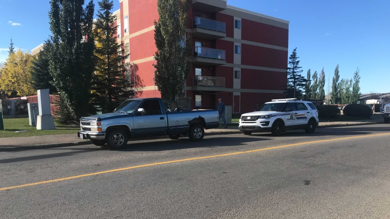 A pedestrian was injured in a hit-and-run in Spruce Grove.