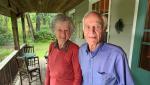 Blu and Douglas Macintosh in Ivy Lea, Ontario. (Kimberley Johnson/CTV News Ottawa)