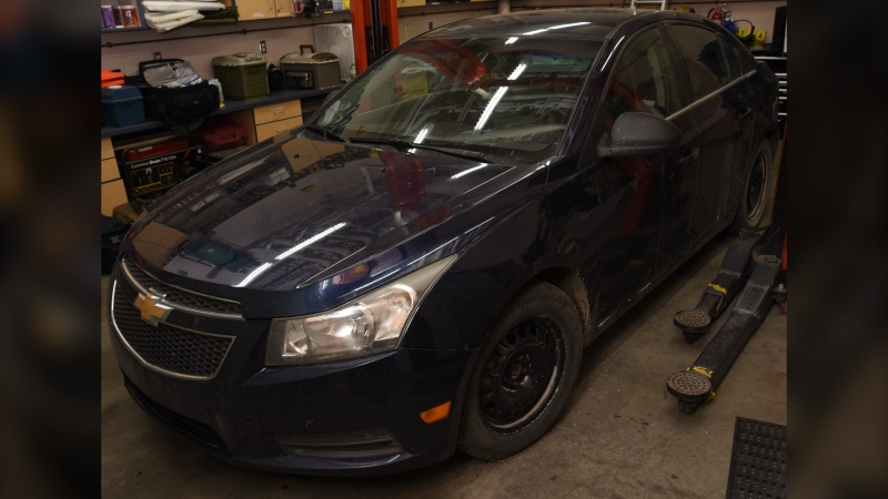 RCMP are looking for anyone who witnessed this Chevrolet Cruze driving around Mosquito First Nation on Sept. 21 (Source: RCMP)