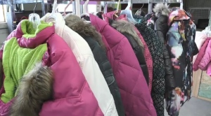 Donations of winter clothing are being collected in the annual CTV Coats for Kids initiative in Sault Ste. Marie. Sept. 23/21 (Christian D'Avino/CTV Northern Ontario)