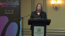 Heather Campbell announces this year's Wordstock Sudbury Literary Festival. Sept. 24/21 (Ian Campbell/CTV Northern Ontario)