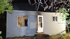 On Thursday around 1:30 a.m., Mounties got a report of a fire at a house on 3rd Avenue South in Swan River, Manitoba. (Source: RCMP)