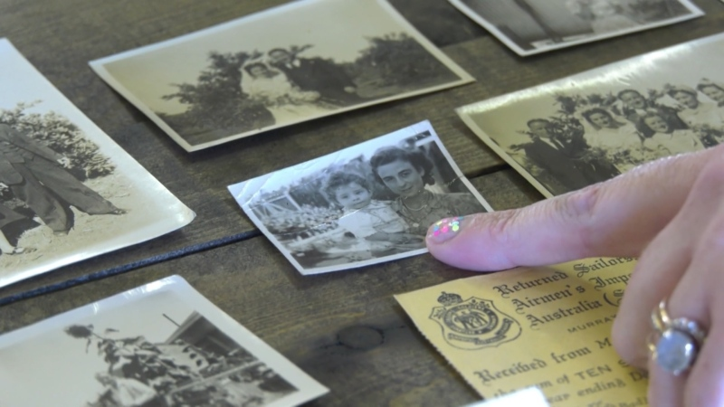 Rayanne Boychuk discovered several items that appeared to have sentimental value in an old dresser in September, 2021. (Amanda Anderson/CTV News Edmonton)