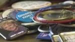 Memorabilia documents elections through the decad