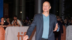 """Actor Woody Harrelson arrives on the red carpet for the movie """" The Edge of Seventeen"""" during the Toronto International Film Festival on Saturday, September 17, 2016. THE CANADIAN PRESS/Michelle Siu"""