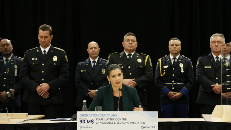 Public Security Minister Genevieve Guilbault announced $90 million in funding to combat gun violence in the province. SOURCE: Genevieve Guilbault/Twitter