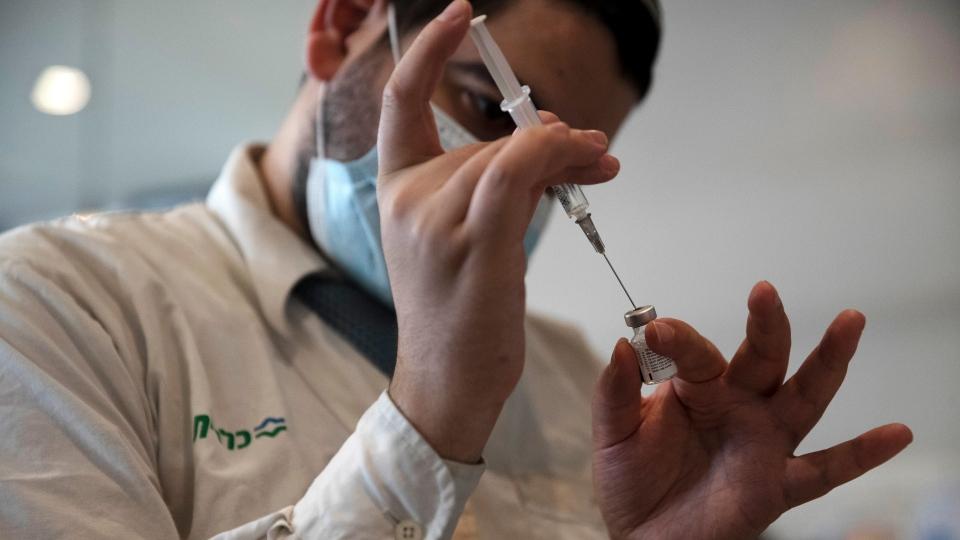 vial of the Pfizer coronavirus vaccine