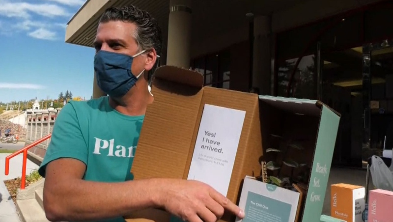 Plantsie made the donations in partnership with the United Way of Calgary to help seniors who are feeling isolated because of the pandemic.