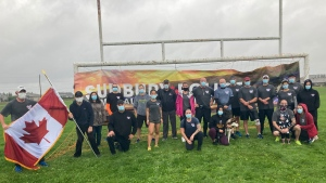 It's a memorial run that is held across the country that sees Ontario officers run 460 kilometres from the Provincial Police Memorial in Toronto to the Peace Memorial in Ottawa. COVID has cancelled the run for the past two years. Sept.25/21 (Alana Everson/CTV News Northern Ontario)