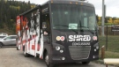 The SHRed Mobile vehicle will visit a number of communities in Alberta over the coming months.