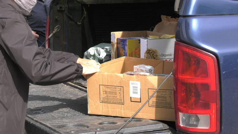 St. Vincent Place executive director Nat Cicchelli says the Big Blue Food Drive is expected to carry them into the winter. Sept.25/21 (Mike McDonald/CTV News Northern Ontario)