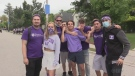 The scene was relatively calm around Broughdale Avenue for Western University's homecoming, Sept. 25, 2021. (Brent Lale / CTV News)