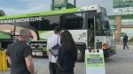 As part of the province's effort to increase vaccinations, the GOVAXX bus made a stop in Barrie Saturday.
