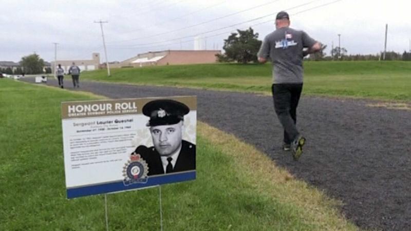 Sudbury officers take part in memorial run