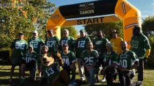 Roughriders alumni walk for children's cancer