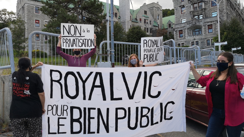 A coalition of groups is working to ensure the former Royal Vic Hospital site in Montreal remains in the public domain. SOURCE: Le Royal Vic pout le bien public/ Facebook