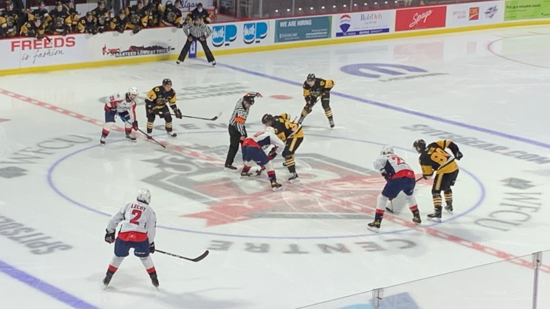 The OHL's Windsor Spitfires host the Hamilton Bulldogs at the WFCU Centre in Windsor, Ont., Sept. 26, 2021. (Rich Garton / CTV News)